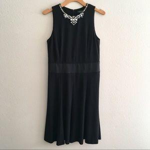 Lauren Ralph Lauren Black Dress Sz 8 Bead neckline